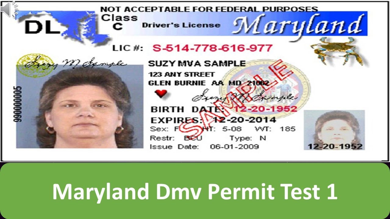 learners permit test md