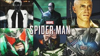 All Sinister 6 Scenes & Boss Fights - MARVEL'S SPIDER MAN PS4