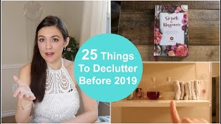 25 Things to Declutter Before 2019