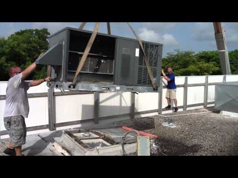HVAC Crane Safety; Preparing To Remove AC Units From Rooftop