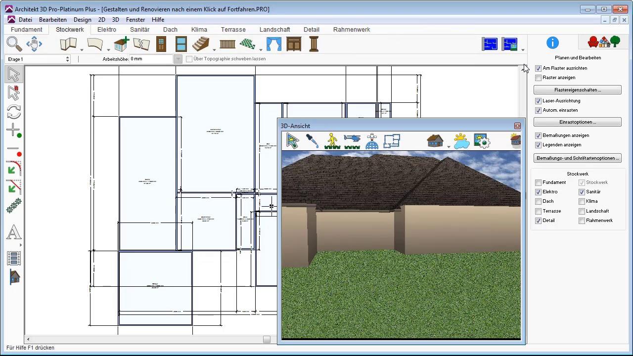 Architekt 3D - Design-Werkzeuge im Überblick - YouTube