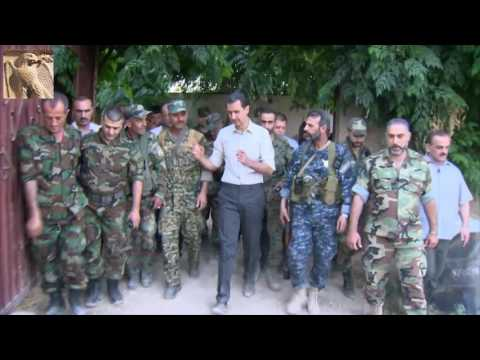 President Assad on The Frontlines Near Damascus | 26 Jun 2016