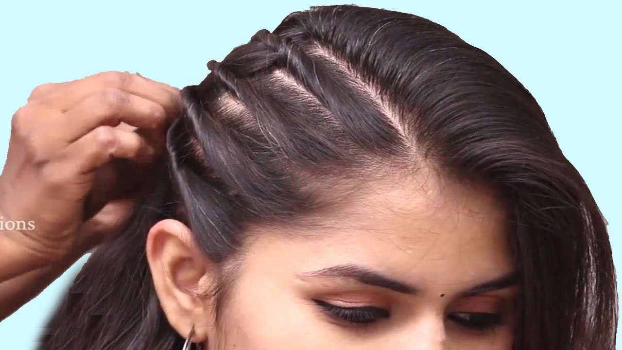 Trending Hairstyles For Party Wedding Functions Easy Hairstyle For Ladies Hair Style Girl Youtube