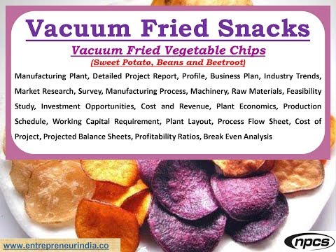 Vacuum Fried Snacks :Vacuum Fried Vegetable Chips (Sweet Potato, Beans and Beetroot)