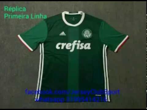 620521c54a Palmeiras Home e Away 16 17 Réplica Primeira Linha - YouTube