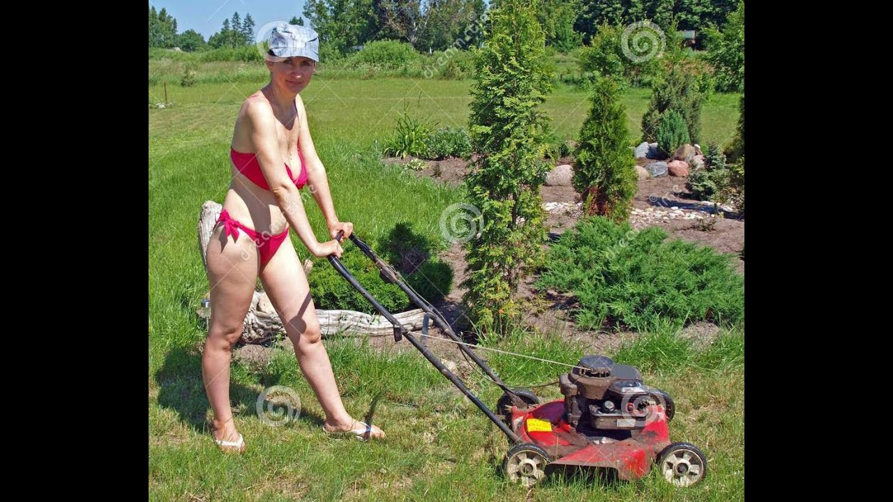 Naked woman on riding lawnmower hd porn pics