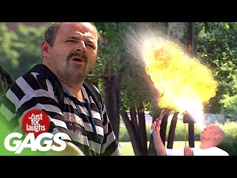 Fire Eater COOKS Hot Dog With Mouth