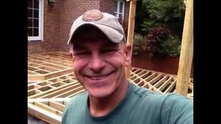 Building A 1000 Sq Ft. Deck Framing System Day3 / Mr. Fix-all