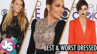 2017 Peoples Choice Awards Red Carpet Best and Worst Dressed Celebrities - Just Sayin
