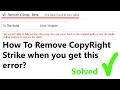 CopyRight Claim Remove