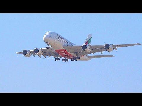 Flights Landing at Dubai Airport Compilation.