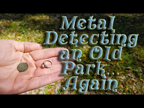 Metal Detecting an Old Park, Ring and early 1900s coins found.