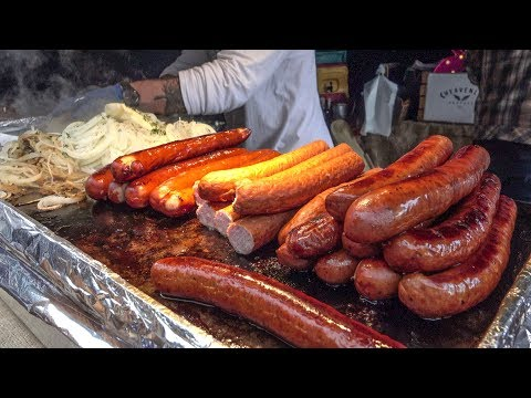 Huge 'Kielbasa' Sausages from Poland. London Street Food