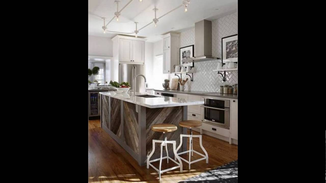 weathered wood kitchen cabinets - YouTube
