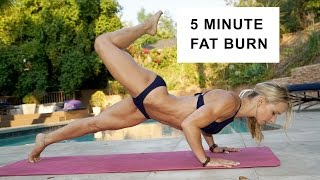 5 Minute Fat Burning Bikini Workout #89
