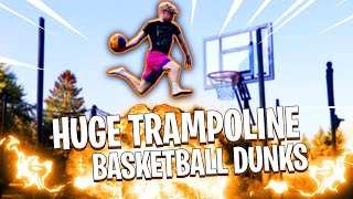 INSANE Trampoline Basketball Dunk Game!