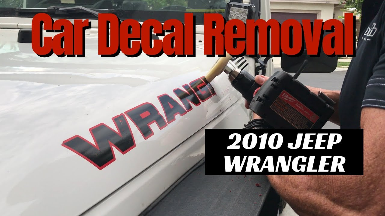Car Decal Removal: 2010 Jeep Wrangler