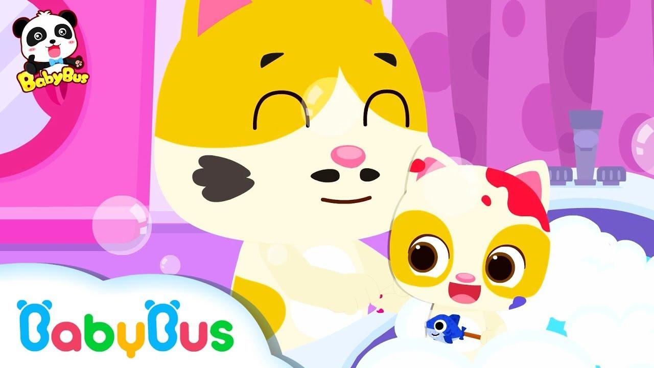 Đi tắm có thật vui??   Giờ đi tắm của mèo con Timi   Nhạc thiếu nhi vui nhộn   Good Habits   BabyBus