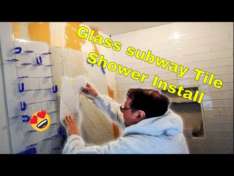 Glass tile Shower installation, important info about glass tile