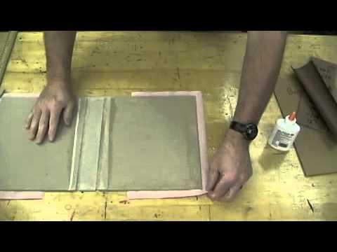 3 ring binder gluing book cloth pt 1