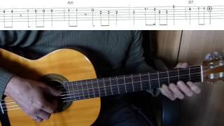 Hava Nagila - Easy Guitar melody tutorial + TAB Guitar lesson