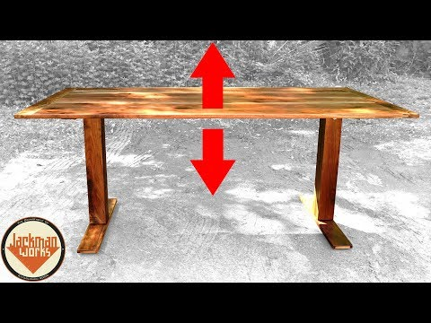 IKEA HACK | Adjustable Height Sit/Stand Walnut Desk