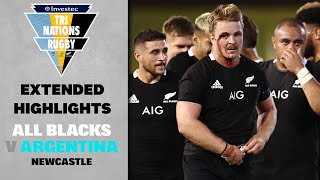 EXTENDED HIGHLIGHTS | All Blacks v Argentina (Newcastle)