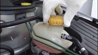 Как поменять охлаждающую жидкость и какой антифриз заливать!Opel Corsa