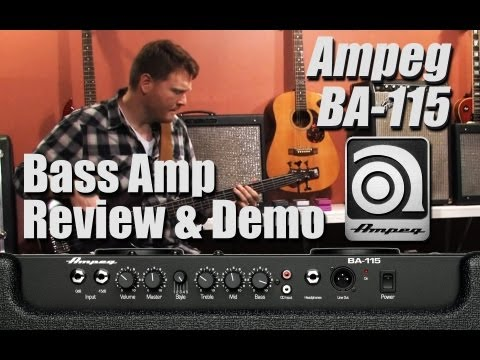 Ampeg BA-115 Bass Amp Review & Demo