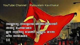 Nalloru Nale Njangalkkayi song with lyrics | നല്ലൊരു നാളെയെ ഞങ്ങള്ക്കായി