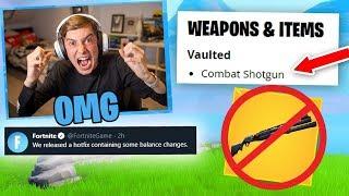 KID GOES MAD After Fortnite VAULTS Combat Shotgun!