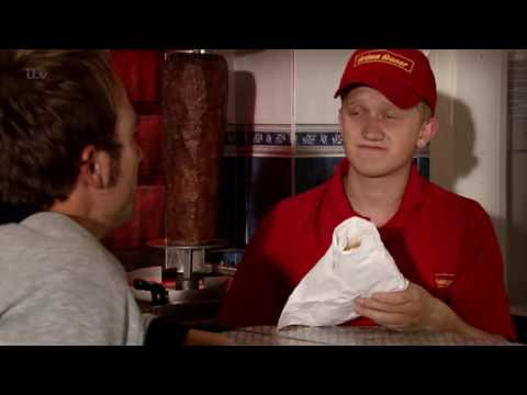 Coronation Street - Chesney Cheers David Up With A Kebab