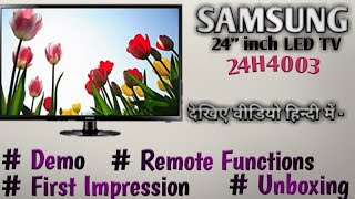 "SAMSUNG 24"" inch LED Tv Unboxing and Demo @Mehrotra Electronics"