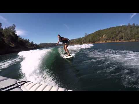 Wake Surfing Behind a Malibu Direct Drive