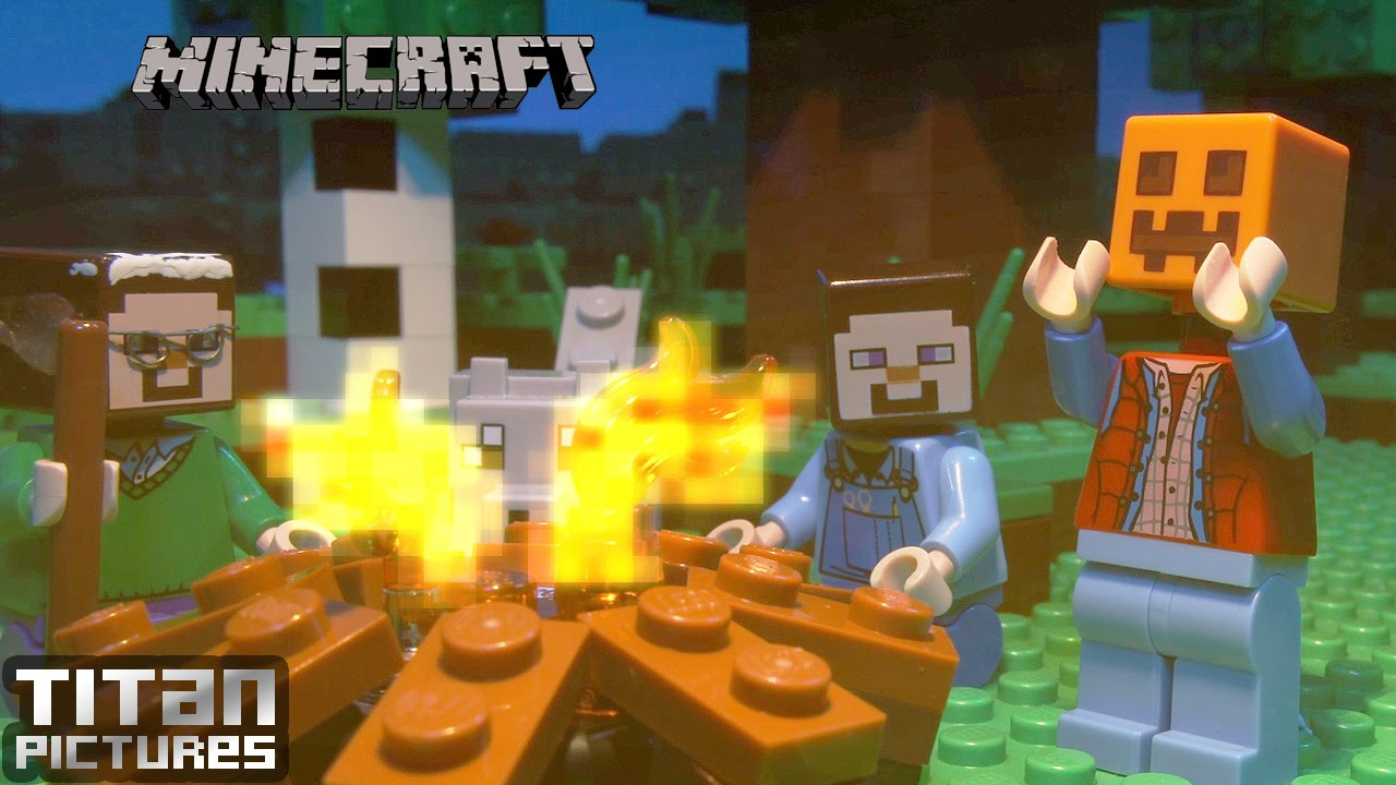 mine craft video lego minecraft campfire stories 2463