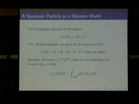 David Damanik (Rice University) / Aperiodic order and quantum mechanics / 2010-10-01