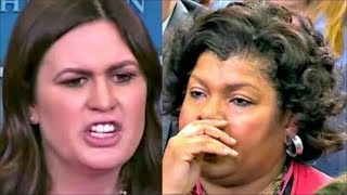 Sarah 'Huckabee' Sanders leaves reporter SPEECHLESS when answering on Trump's Bizarre Comments