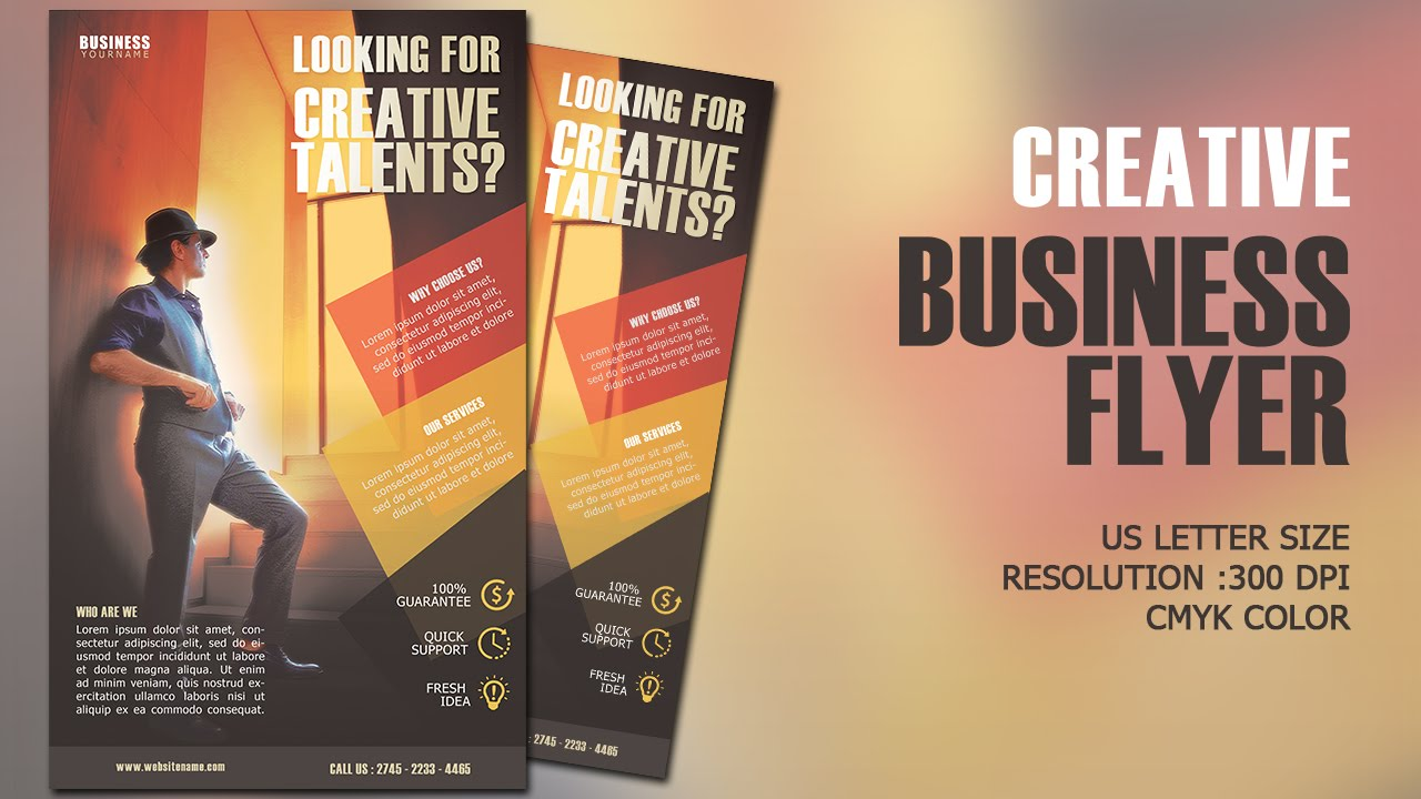 design creative business flyer cmyk photoshop tutorial youtube
