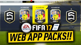 FIFA 17 WEB APP PACKS!