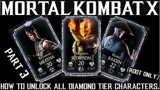 MKX update 1.16.2 hack part 3: How to unlock DIAMOND CHARACTERS(ALL CHARACTER CODES IN DESCRIPTION)