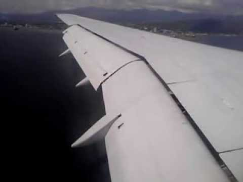 FLY JAMAICA APPROCH AND LANDING AT NORMAN MANLEY AIRPORT IN KINGSTON ...