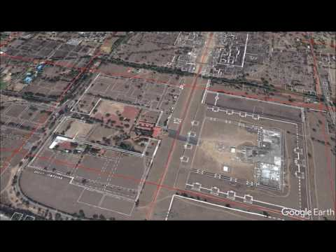 Teotihuacan overlay in Google Earth 1080p