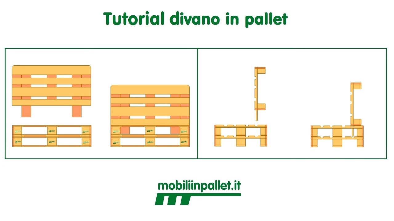 Ben noto Tutorial sofa in pallet - YouTube SN33