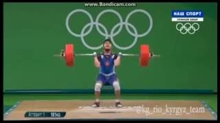 Иззат Артыков, оор атлетика, тяжелая атлетика, рио 2016, Кыргызстан, Олимспийские игры Weightlifting