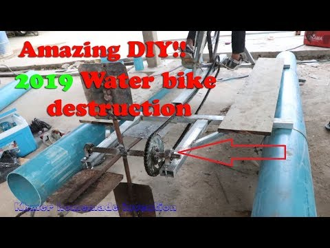 Amazing DIY 2019 - How to do Water bike by PVC pipe & testing Full videos (Second edition)