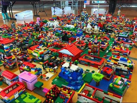 900 People Helped Build Salt Lake Valley out of LEGO® Bricks