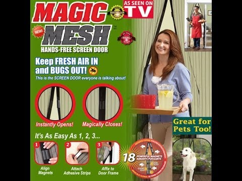 Magic Mesh Door Cover As Seen On Tv Youtube