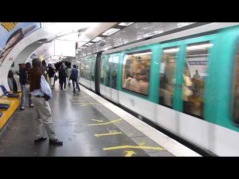 Paris Metro Line 5 Gare du Nord 1 July 2014