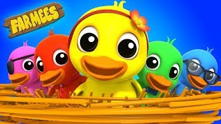 Five Little Ducklings | Kindergarten Songs And Videos For Children by Farmees