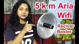 How to make Wifi Receiver Booster for 5  k.m  Coverage | Wifi Signal capture